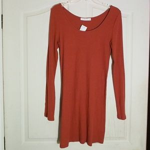 Dresses & Skirts - Copper Long-Sleeved Stretchy Mini Dress